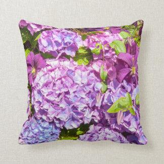 Violet hydrangea,  garden pillow