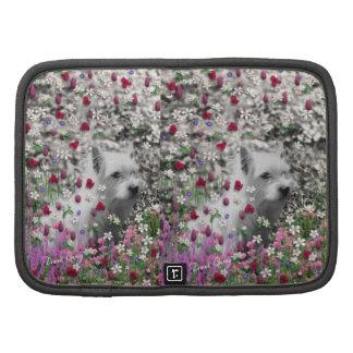 Violet in Flowers – White Westie Dog Organizers
