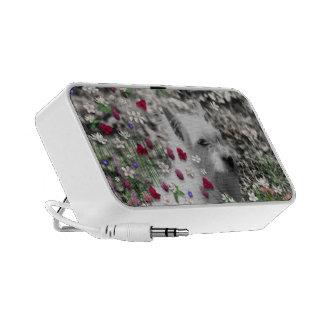 Violet in Flowers – White Westie Dog Speaker