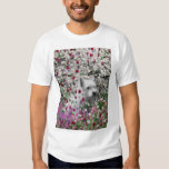 Violet in Flowers – White Westie Dog Tees