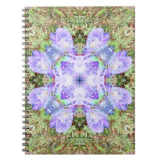 Violet Iris Mandala Spiral Notebook