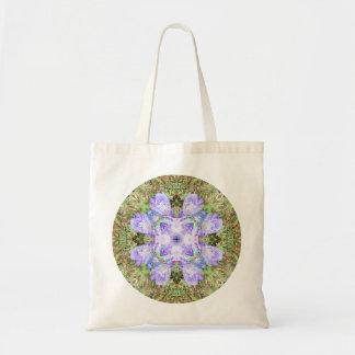 Violet Iris Mandala Tote Bag