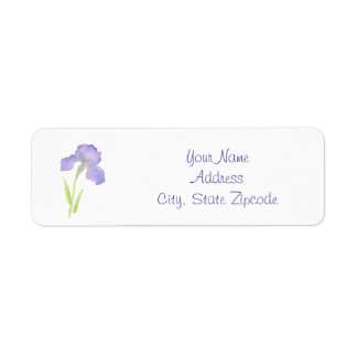Violet Iris Return Address Label