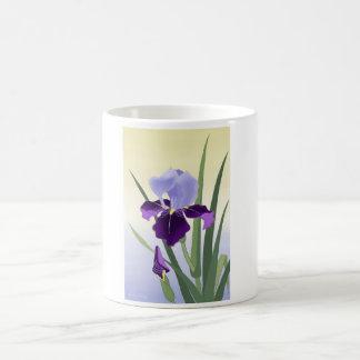 Violet Irises White 11 oz Classic White Mug