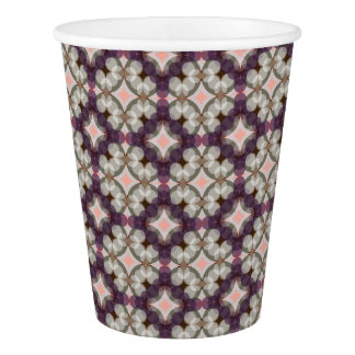Violet Kaleidoscope Pattern Paper Cup