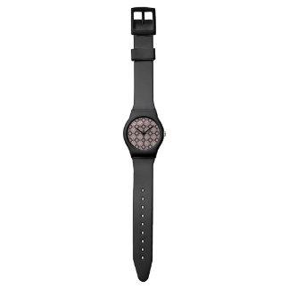 Violet Kaleidoscope Pattern Wrist Watches