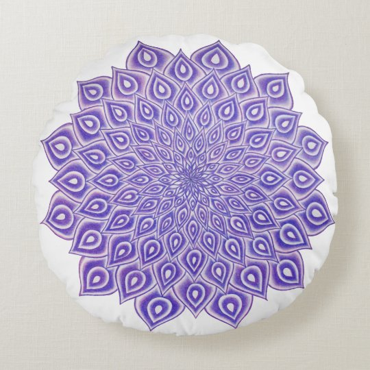 Violet Lotus Crown Chakra Mandala Pillow