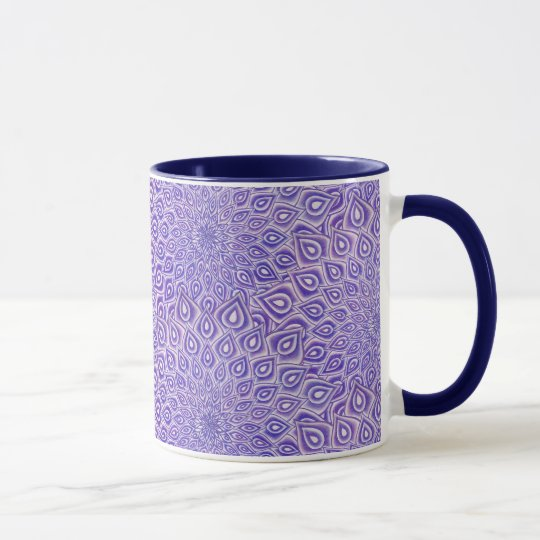 Violet Lotus Crown Chakra Mandala Two Toned Mug