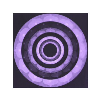 Violet mandala canvas print