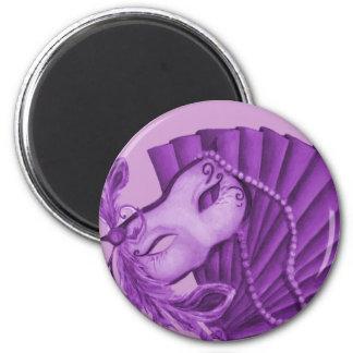 Violet Masquerade 6 Cm Round Magnet