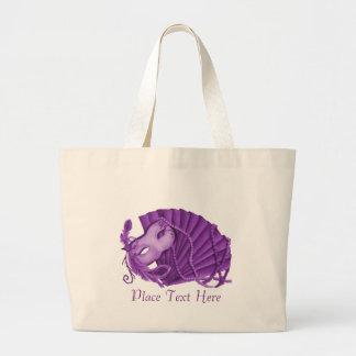 Violet Masquerade Jumbo Tote Bag