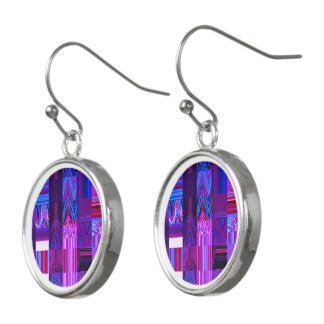 Violet Mélange Drop Earrings by Artist C.L. Brown