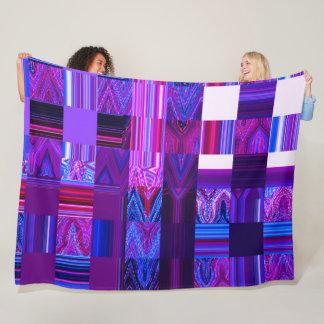 Violet Mélange Fleece Blanket by C.L. Brown