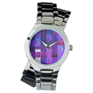 Violet Mélange Women's Wraparound Silver Watch