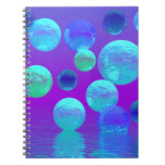 Violet Mist - Cyan and Purple Abstract Light Notebooks