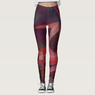 Violet Monochromatic cubism Leggings