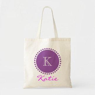 Violet Monogram Personalized Design