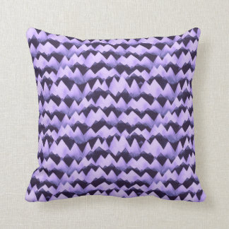 Violet Mountains Watercolor Throw Pillow