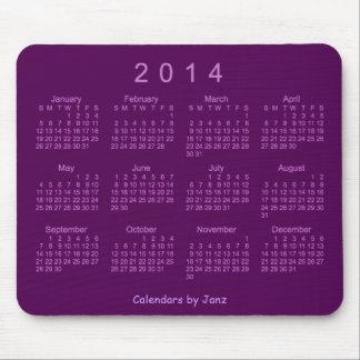Violet Neon 2014 Calendar Mouse Pad
