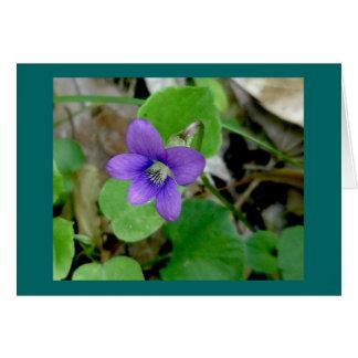 Violet Note Card