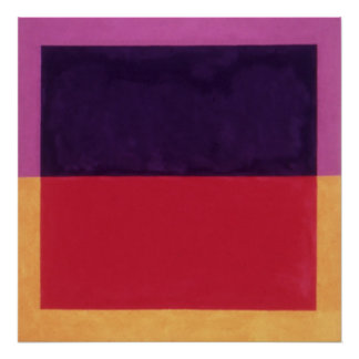 violet on violet, red on yellow 01.01 poster