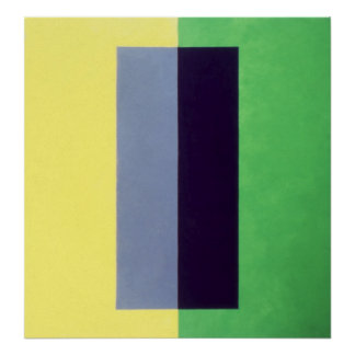 violet on yellow over green print