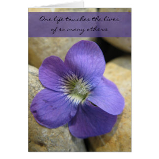 Violet One Life Teacher Retirement Card