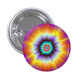 Violet Orange and Turquoise Explosion Button
