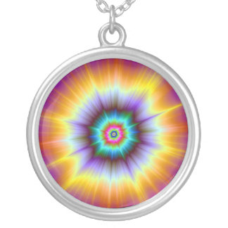Violet Orange and Turquoise Explosion Necklace