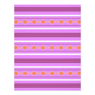 Violet orange artistic stripes full color flyer
