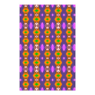 Violet Orange Chains Abstract Pattern Full Color Flyer