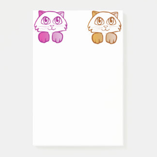 Violet orange Kittens Post-it Notes