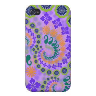 Violet Paisley Case Case For iPhone 4