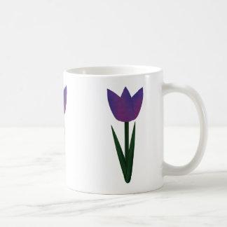Violet Patchwork Tulip Classic Mug