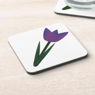 Violet Patchwork Tulip Coaster Set Beverage Coaster