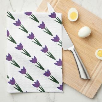Violet Patchwork Tulip Kitchen/Tea Towel Kitchen Towels