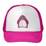 Violet Penguin Trucker Hats