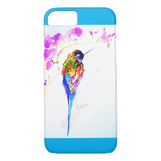 """Violet Perch"" Hummingbird Print iPhone 8/7 Case"