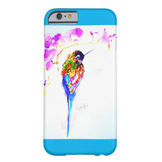 """""""Violet Perch"""" Hummingbird Print on Barely There iPhone 6 Case"""