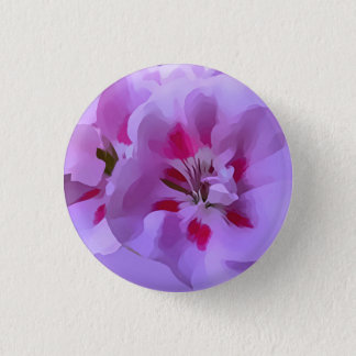 Violet Pink Abstract Hibiscus Flower 3 Cm Round Badge