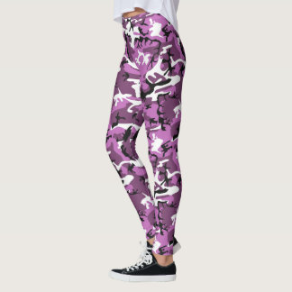 Violet Pink Camo Leggings