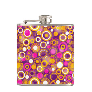 Violet Polka Dot Pattern Flasks