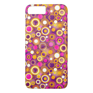 Violet Polka Dot Pattern iPhone 8 Plus/7 Plus Case