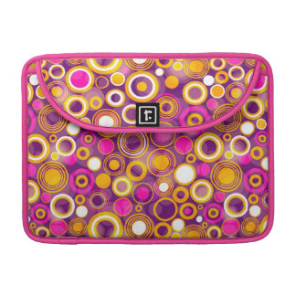 Violet Polka Dot Pattern MacBook Pro Sleeves
