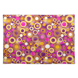Violet Polka Dot Pattern Placemat