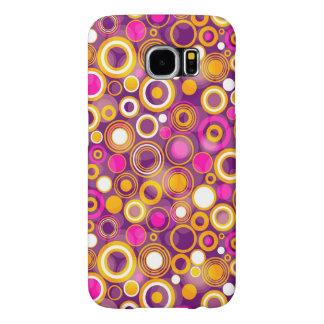 Violet Polka Dot Pattern Samsung Galaxy S6 Cases