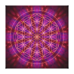 Violet Power and the flower of life Gallery Wrap Canvas