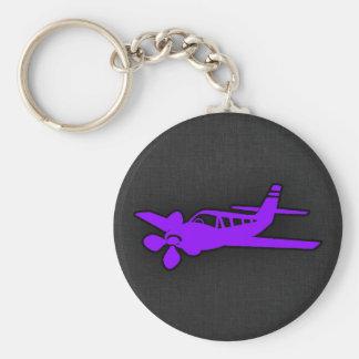 Violet Purple Airplane Key Ring