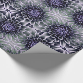 Violet Purple and Lavendar Flower Blossom Wrapping Paper
