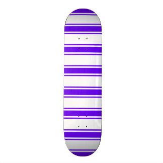 Violet Purple and White Stripes; Striped Skateboard Decks